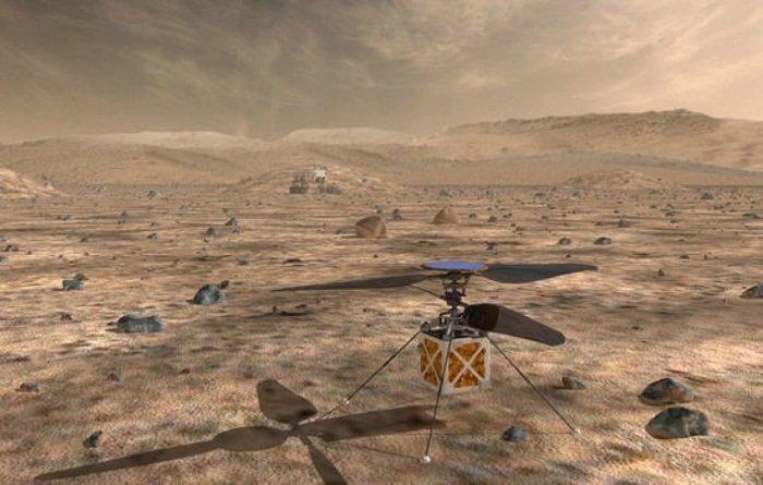 NASA планирует осваивать Марс с помощью портативного вертолета nasa, ynews, атмосфера, вертолет, исследования, марс