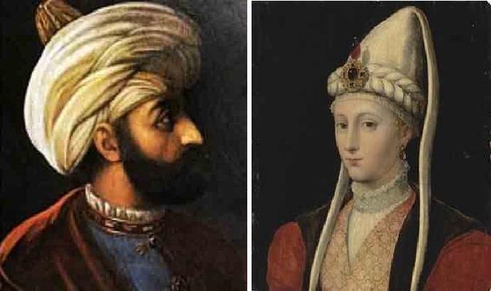 Сулейман I Великолепный. / Хюррем-султан. (1581г.) Автор: Мельхиор Лорис.