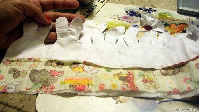 Текстильная корзинка из пасхальных зайцев. Мастер-класс (11) (700x393, 318Kb)