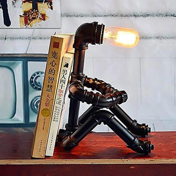 Бро-светильники из труб (подборка)