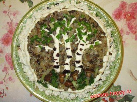 Фото и рецепт салата березовая роща