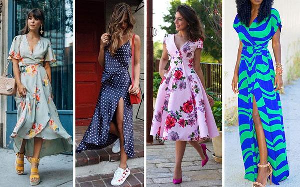 Летние платья с запахом 2018 для любого типа фигуры