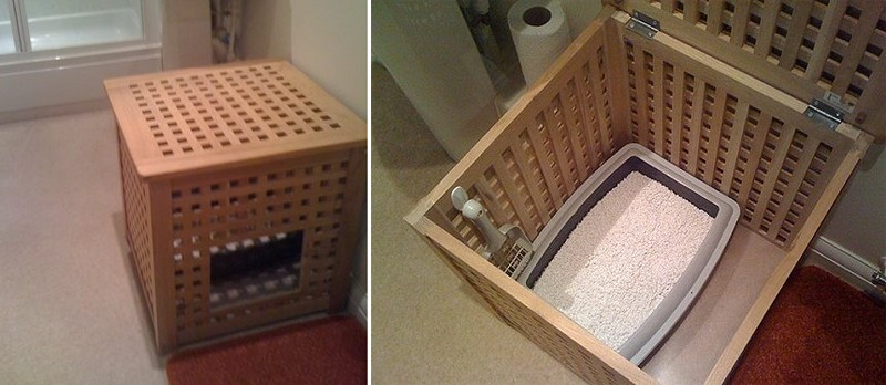 Туалет домик кошке