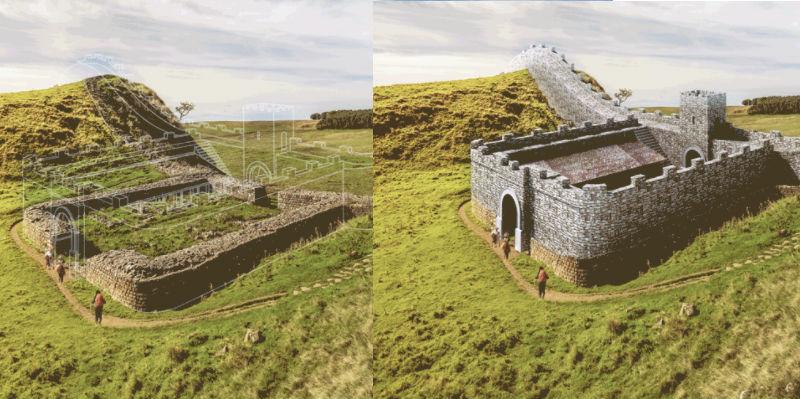 Сотни веков за несколько секунд: как выглядит восстановление древних руин в гифках