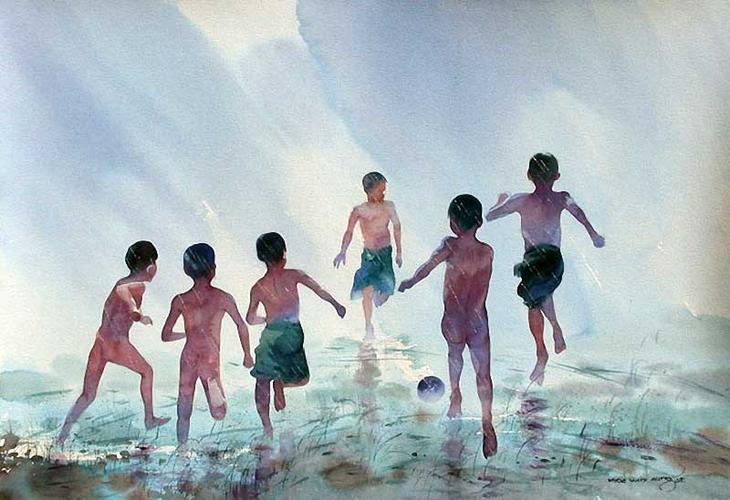 Акварельные картины художник Мьё Вин Онг 21