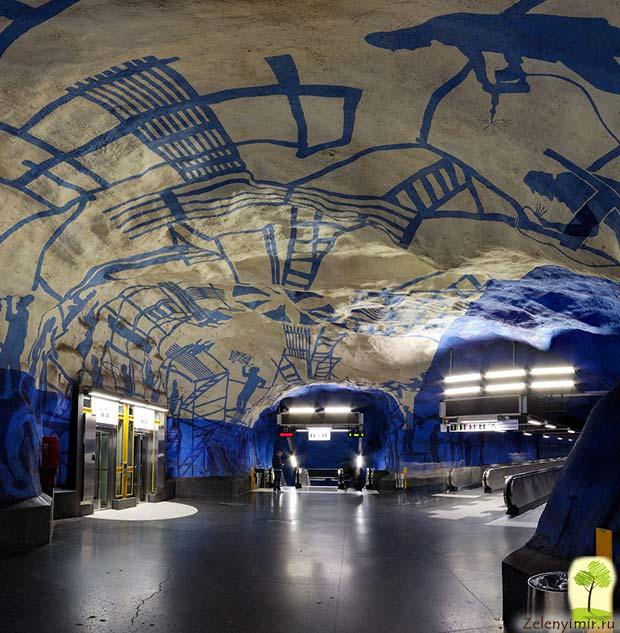 Ошеломляющее метро в Стокгольме – самая длинная художественная галерея в мире, Швеция - 25