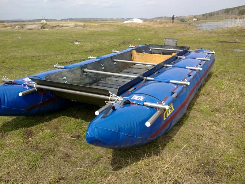 постройка лодки из труб