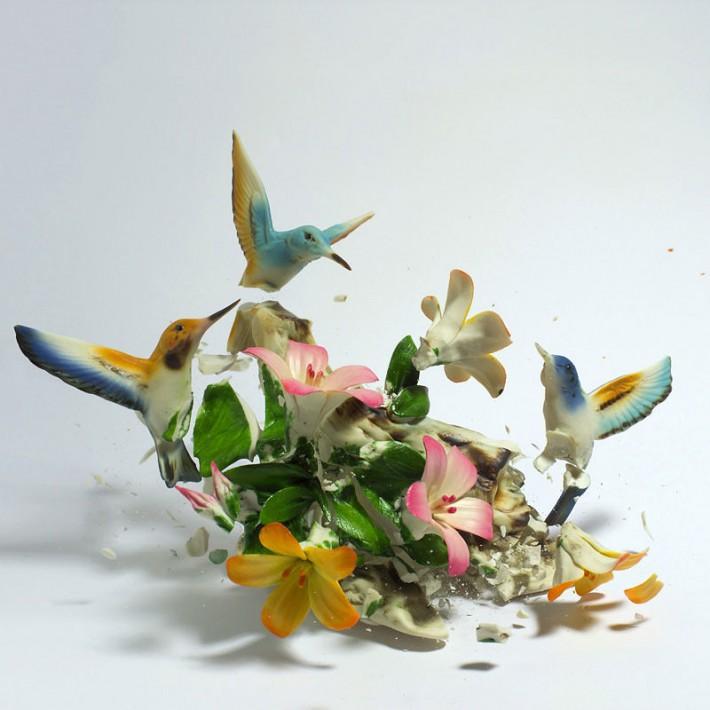 Взрывающиеся вазы с цветами от Martin Klimas (17 фото)