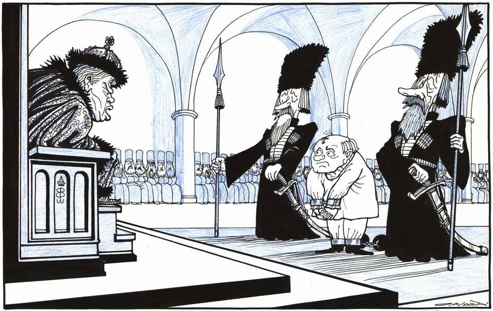 Борис Ельцин на карикатурах из нидерландских журналов 1990-х годов