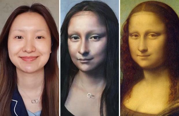 Китаянка превращает себя в героинь картин Леонардо да Винчи