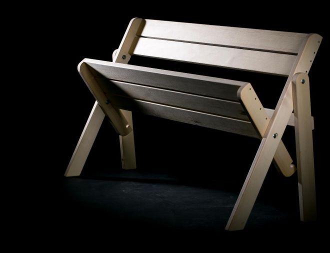 деревянная складная скамейка
