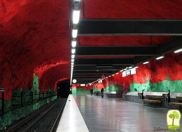 Ошеломляющее метро в Стокгольме – самая длинная художественная галерея в мире, Швеция - 14