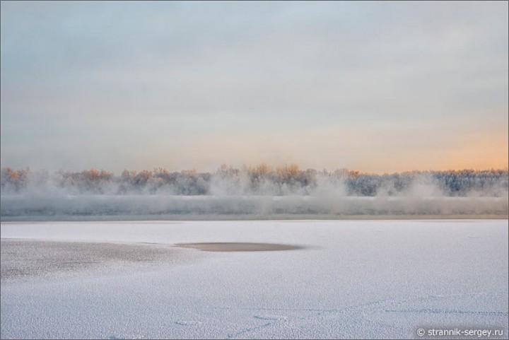 Волшебные пейзажи зимнего озера