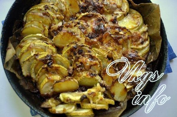 Щукаы в духовке с овощами