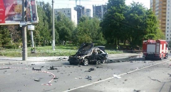 ВКиеве взорвался автомобиль: водитель погиб, двое пострадали