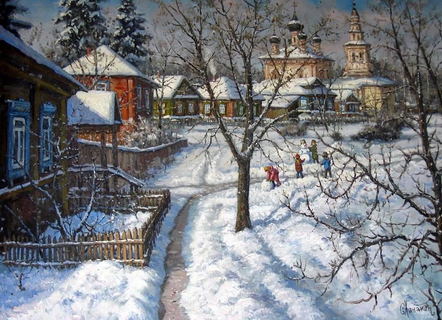 Русская зима в картинах Сергея Хананина