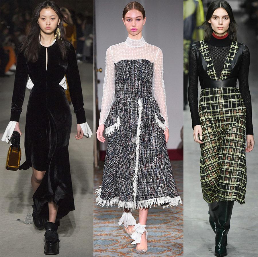 Модный обзор —  платья из коллекций осенне-зимнего сезона 2018-2019