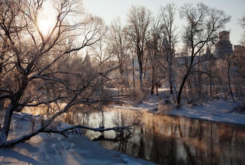 Русская зима в Новом Иерусалиме перед Крещением