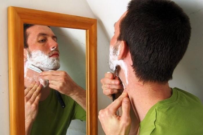 Как бриться правильно.