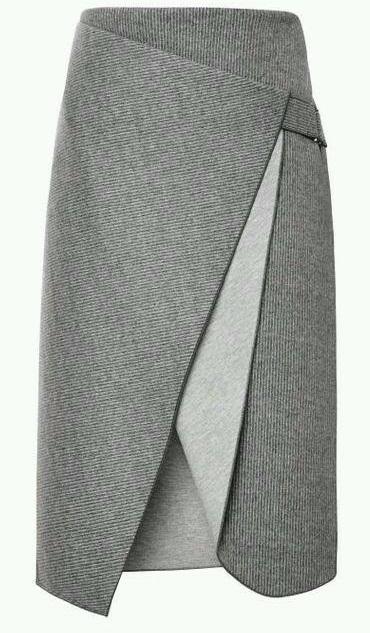 Очень красивая креативная юбка с запахом.