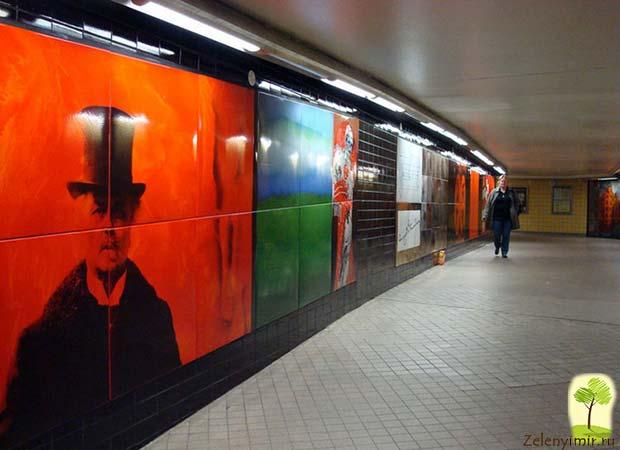 Ошеломляющее метро в Стокгольме – самая длинная художественная галерея в мире, Швеция - 27