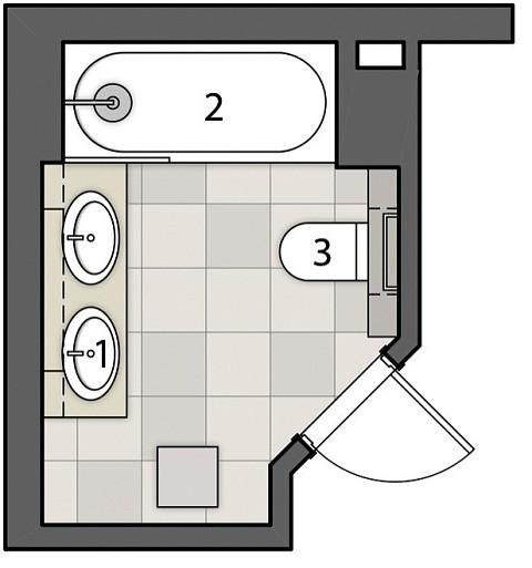 Ванная комната с эффектом жемчуга