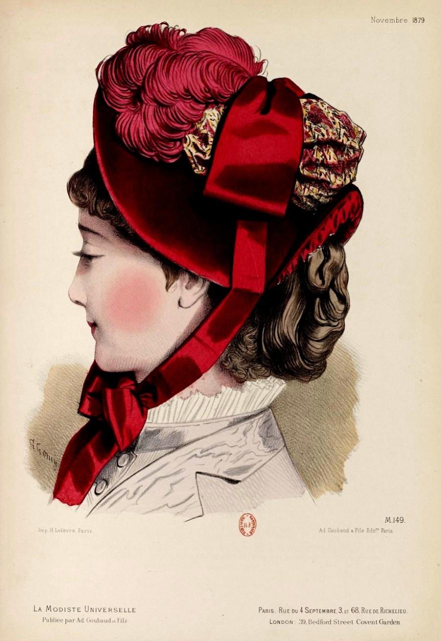 ШЛЯПКИ. ПАРИЖ 1876-1879