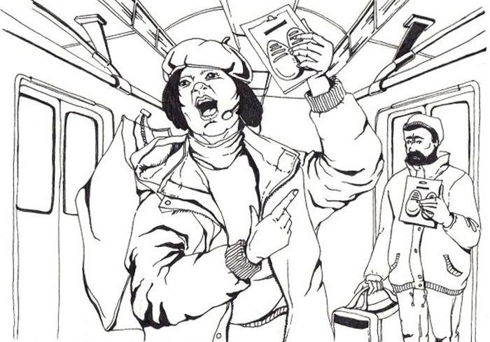 Как всё устроено: Торговля в поездах метро (2 фото + текст)