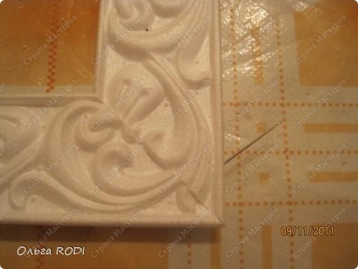 Рамочка из потолочного плинтуса. 10085