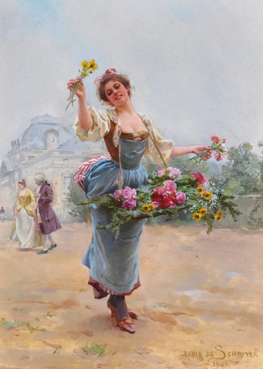 Ретро фото девушка цветы