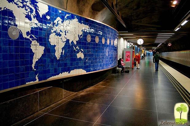 Ошеломляющее метро в Стокгольме – самая длинная художественная галерея в мире, Швеция - 3