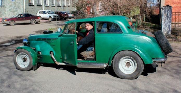 Гоночный автомобиль из старого москвича