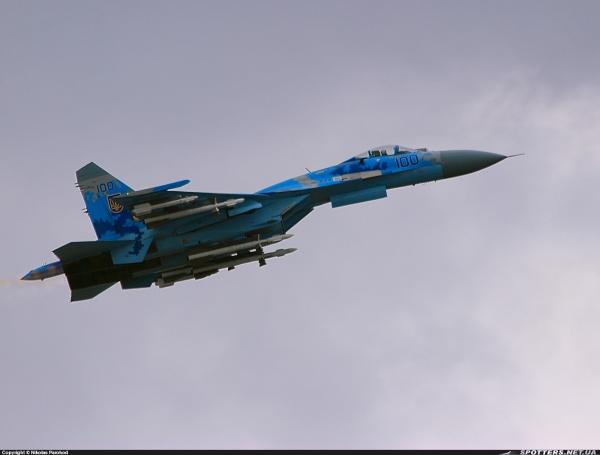 НаУкраине разбился Су-27, летчик погиб