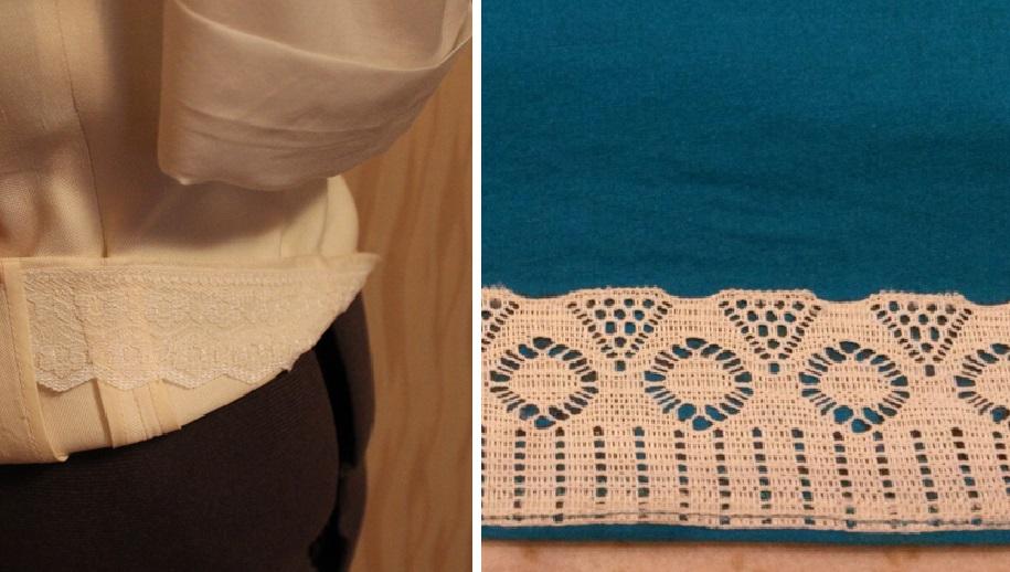 Фальшивая подгибка: обработка низа при нехватке ткани