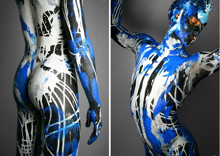 «Краска вместо одежды» - боди-арт от Neil Curtis