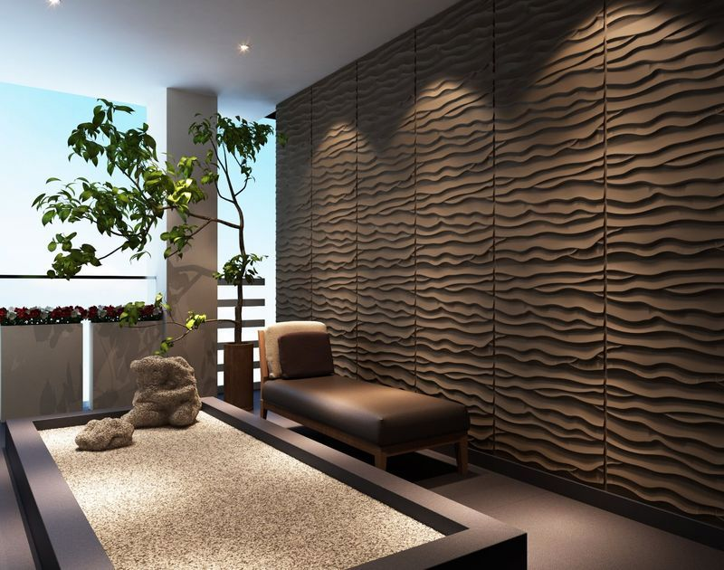 3D панели для стен: эффект объема в интерьере