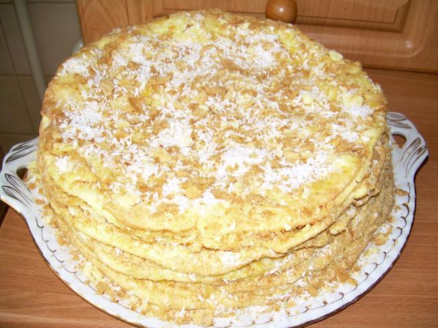 """Наполеон"" -торт на сковородке"
