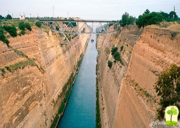 Коринфский канал в Греции – самый узкий судоходный канал в мире - 4