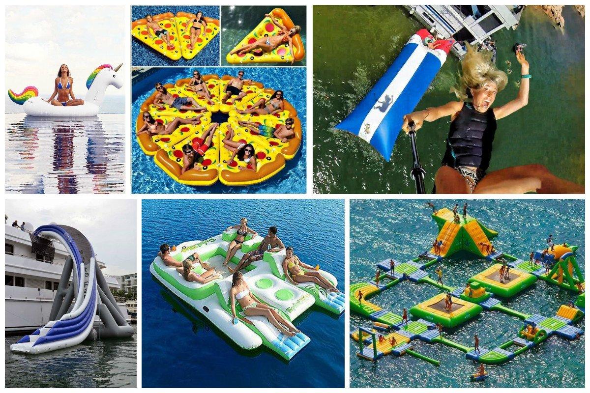 Модные поплавки - водные аквапарки для отдыха и наслаждения Фабрика идей, водные комплексы, интересное, прыжки. вода