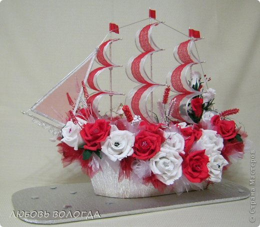 Свит-дизайн День рождения Моделирование конструирование Корабль мечты Бумага гофрированная Продукты пищевые фото 16