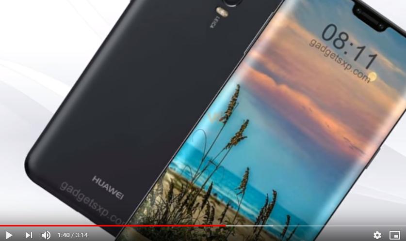 Опубликованы эффектные снимки концепта Huawei P30 Pro в безрамном обрамлении