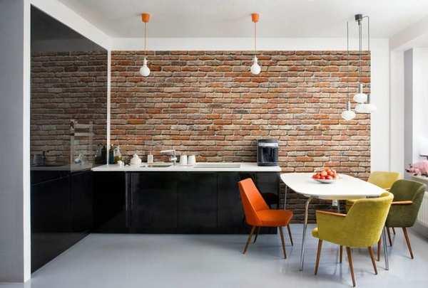 Обои под кухню: советы и модные тенденции  на 50 фото