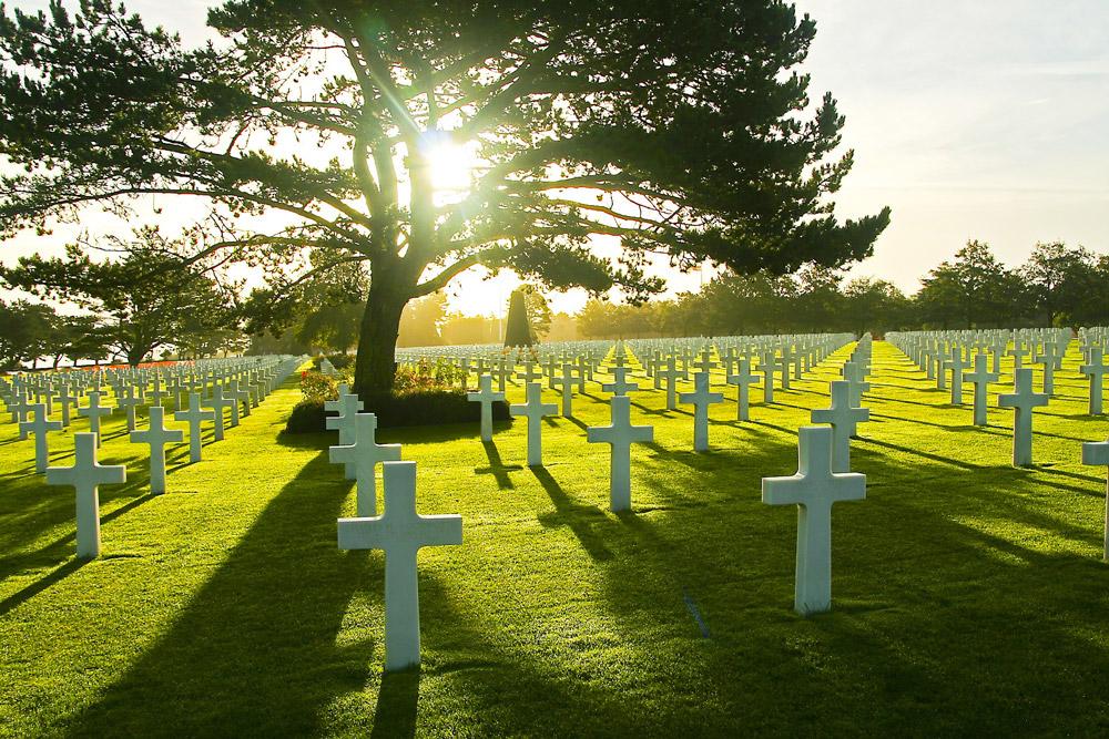 кладбища в европе, американское кладбище и Мемориал
