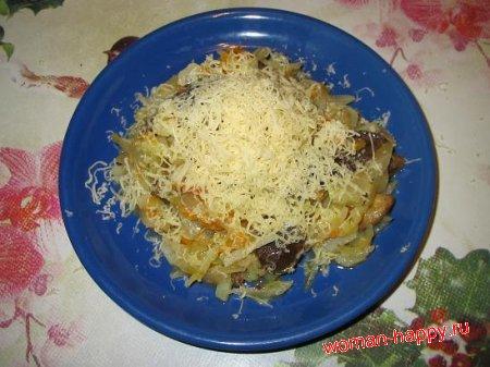 Как приготовить капусту с грибами по новому рецепту
