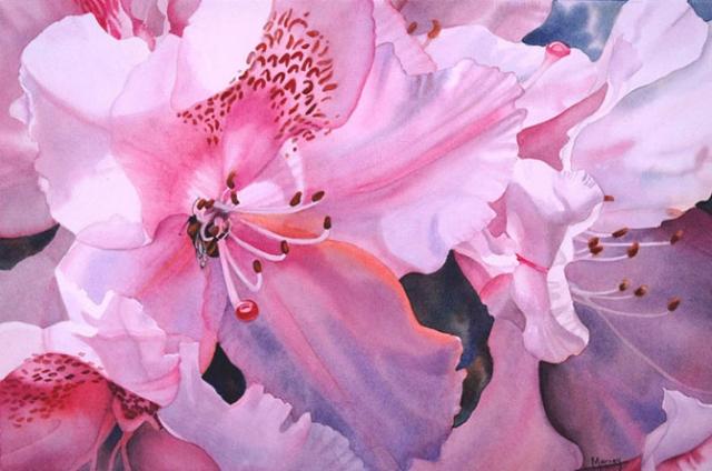 Цветочные акварели Марни Вард (Marney Ward)