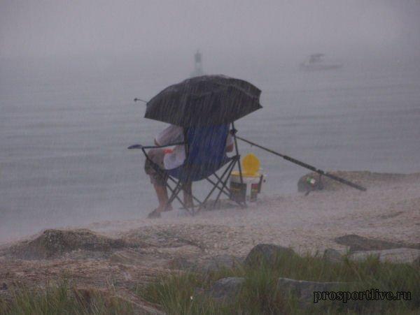 рыбалка в ветер видео