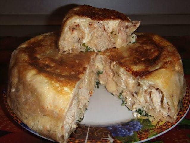 Пирог на кефире с курицей. Очень удачный рецепт!