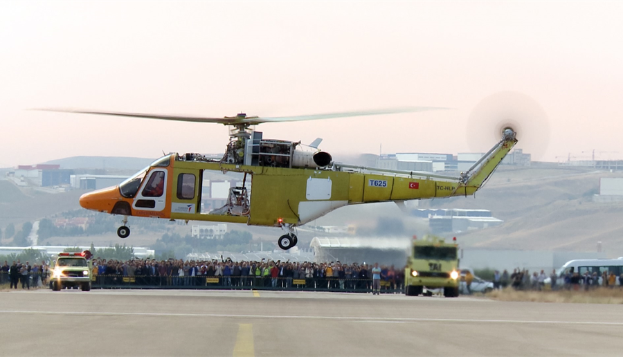 Первый полет турецкого вертолета Т625