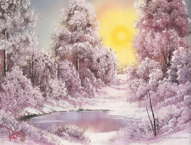 Я любуюсь, природа, тобою, художник Bob Ross