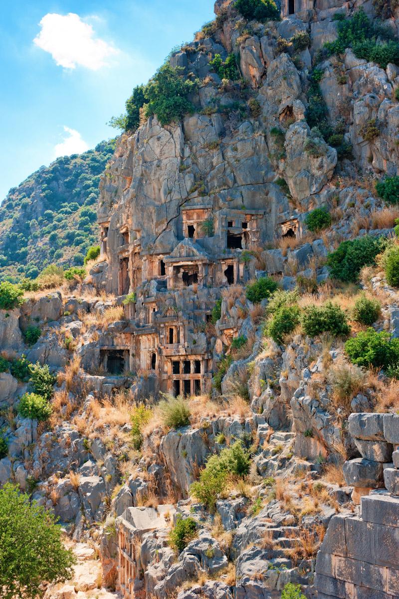 Скальный некрополь Миры, Турция